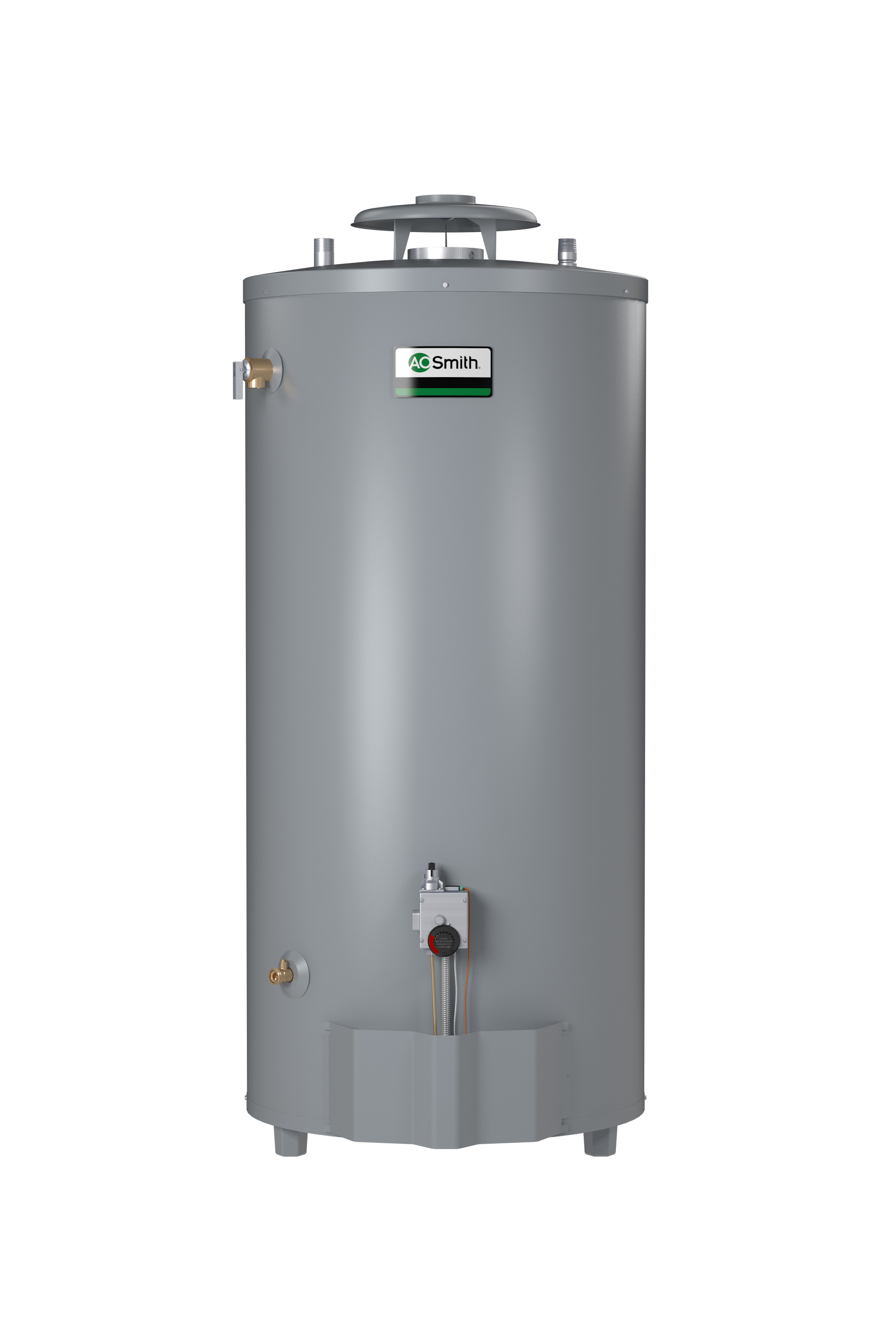 "AO SMITH BT-100: 98-GALLON, 75,100 BTU,  4"" VENT, SINGLE FLUE, NATURAL GAS WATER HEATER (NOT RECOMMENDED FOR 180 DEGREE SANITIZING), CONSERVATIONIST"
