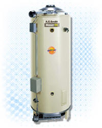 "AO SMITH BTR-251A-LP 65-GALLON, 251,000 BTU, ASME, LP (PROPANE), 8"" VENT WATER HEATER"