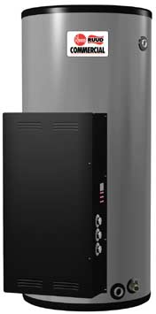RHEEM E120-12-G: 120 GALLONS, 12.0KW, 208 VOLT, 33.3 AMPS, 3 PHASE, 3 ELEMENT, NON-ASME HEAVY DUTY COMMERCIAL ELECTRIC WATER HEATER