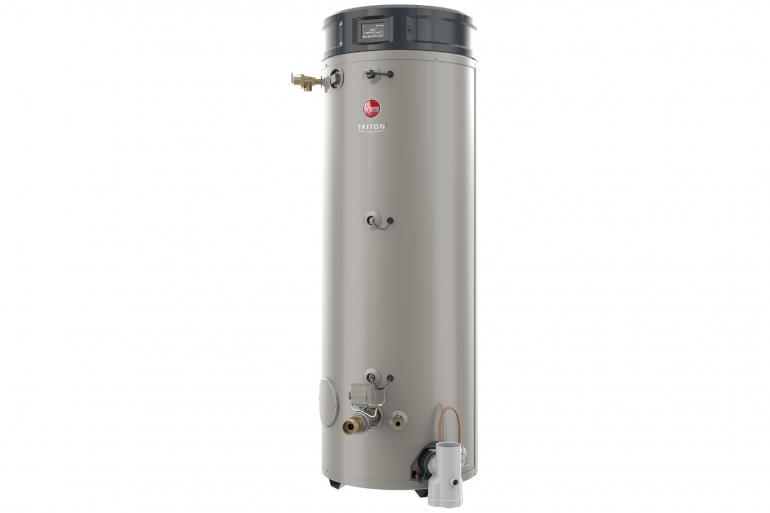 RHEEM GHE100SU-130: 100 GALLON, 130,000 BTU, NATURAL GAS, FLEXIBLE VENTING, TRITON ULTRA HIGH-EFFICIENCY COMMERCIAL WATER HEATER